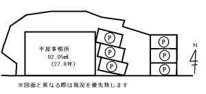 高松町事務所概略図