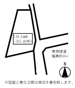 牟礼町牟礼土地概略図