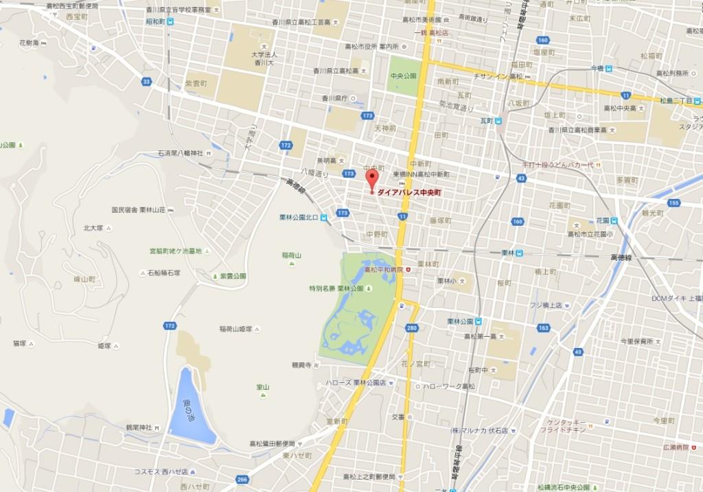 DP中央町地図