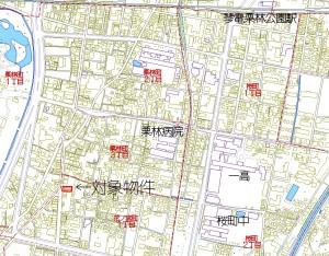 花の宮マンション地図