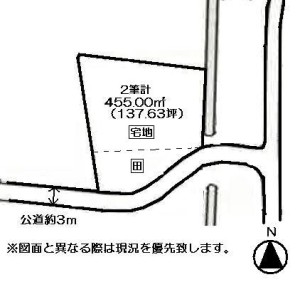 香川町浅野土地概略図