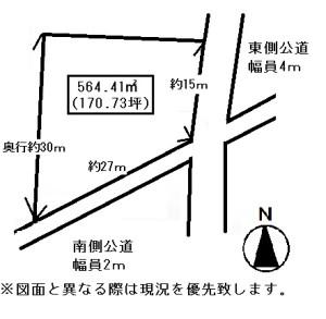 香川町川東土地概略図