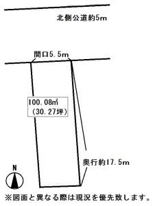 昭和町土地概略図